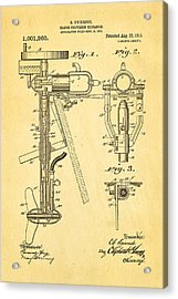 Evinrude Outboard Motor Patent Art 1911 Acrylic Print