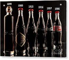 Evolution Of Coca Cola Tm Acrylic Print