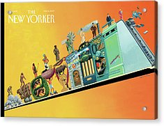 Evolution Of Man And Inventions Acrylic Print by Bruce McCall