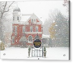 Edwards Waterhouse Inn In Winter Acrylic Print