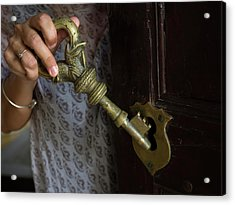 Example Of Large Centuries Old Key Acrylic Print by Panoramic Images