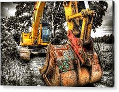 Excavator Acrylic Print