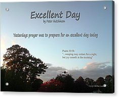 Excellent Day Acrylic Print