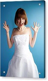 Excited Bride Acrylic Print by Jupiterimages