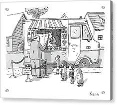 Exec Cuts Children In Line For Ice Cream Acrylic Print