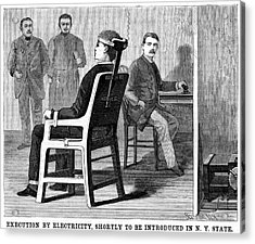 Execution By Electric Chair Acrylic Print by Universal History Archive/uig