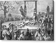Execution By Wheel, Historical Artwork Acrylic Print by Bildagentur-online