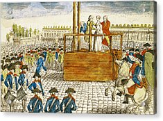 Execution Of Marie-antoinette 1755-93 In The Place De La Revolution, 16th October 1793 Coloured Acrylic Print by French School