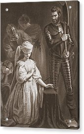 Execution Of Mary Queen Of Scots Acrylic Print by John Opie