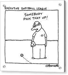 Executive Softball League Acrylic Print