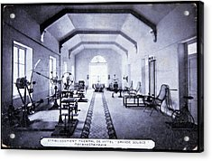Exercise Room At A Spa Acrylic Print by Cci Archives/science Photo Library