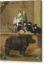 Exhibition Of A Rhinoceros At Venice Acrylic Print by Pietro Longhi