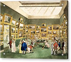 Exhibition Of Watercoloured Drawings Acrylic Print by T and Pugin and AC Rowlandson