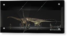 Exhibition Space Featuring Diplodocus Acrylic Print by Alice Turner