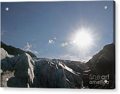Exit Glacier Acrylic Print by Russell Christie
