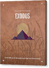 Exodus Books Of The Bible Series Old Testament Minimal Poster Art Number 2 Acrylic Print