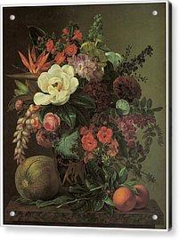 Exotic Bloom In A Grecian Urn Acrylic Print by Johan Laurentz Jensen