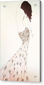 Exotic Lilies Gown Acrylic Print by Christine Corretti
