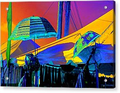 Acrylic Print featuring the photograph Exotic Parasols by Marianne Dow