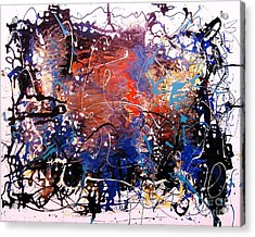 Acrylic Print featuring the painting Exotic Zone by Roberto Prusso
