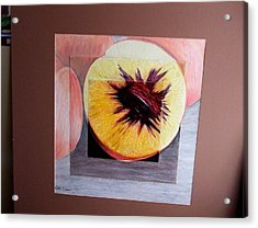 Expanding Peach Acrylic Print by Ali Dover
