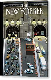 Expect Long Delays Acrylic Print by Bruce McCall