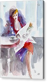 Acrylic Print featuring the painting Expectation.. by Faruk Koksal