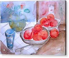 Acrylic Print featuring the painting Expectation by Jasna Dragun