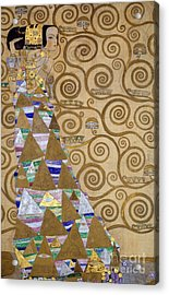 Expectation Preparatory Cartoon For The Stoclet Frieze Acrylic Print by Gustav Klimt