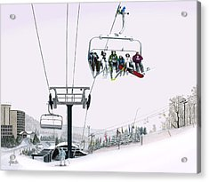 Acrylic Print featuring the painting Experience Seven Springs by Albert Puskaric