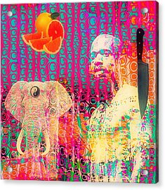 Experimental Digital Collage Acrylic Print by John  De Sousa