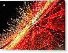 Exploding Neon Acrylic Print