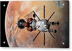 Explorer At Mars Part 1 Acrylic Print by David Robinson