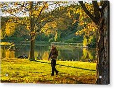 Exploring Autumn Light Acrylic Print by Steve Harrington