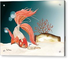 Exploring The Deep Acrylic Print by Anne Beverley-Stamps