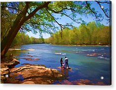 Exploring The River Acrylic Print