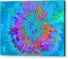 Acrylic Print featuring the painting Explosion 5 by Nico Bielow