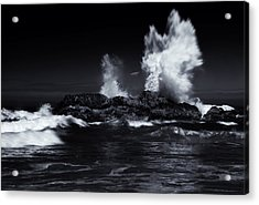 Explosion Acrylic Print by Mike  Dawson