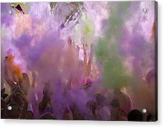 Acrylic Print featuring the photograph Explosion Of Colour by Debbie Cundy