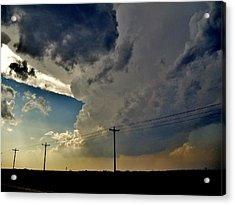 Explosive Texas Supercell Acrylic Print by Ed Sweeney