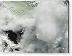 Explosive Wave Acrylic Print by Donna Blackhall