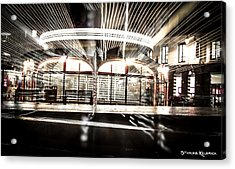 Acrylic Print featuring the photograph Explozoom On A French Carousel by Stwayne Keubrick