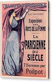 Exposition Des Arts De La Femme Acrylic Print by Gianfranco Weiss