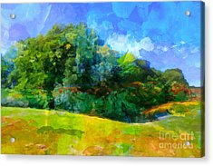 Expressive Landscape Acrylic Print by Lutz Baar
