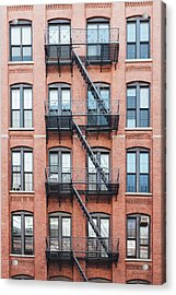 Exterior Of Buildings In New York City Acrylic Print by Deimagine