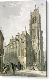 Exterior Of The Church Of St. Severin, Paris Acrylic Print by Thomas Shotter Boys