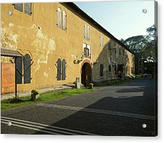 Exterior Of Warehouse Built Acrylic Print by Panoramic Images