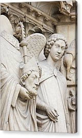 Exterior Statue Detail, Notre Dame Acrylic Print by William Sutton
