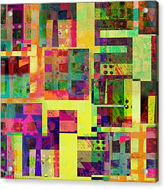 Extreme Color  Abstract Art  Acrylic Print by Ann Powell