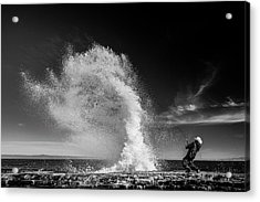 Extreme  Fishing Acrylic Print by Vahid Varasteh
